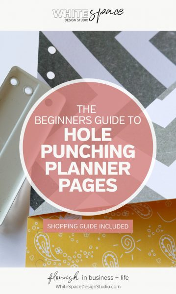 The Beginners Guide to Hole Punching Planner Pages >>> Create a planner unique to you and works the way you do … It's the secret to organising your day with less overwhelm + more joy! | whitespacedesignstudio.com #flourishwithwhitespace #plannerprintables #fuselifeplanner #planning #productivity #plannerkit