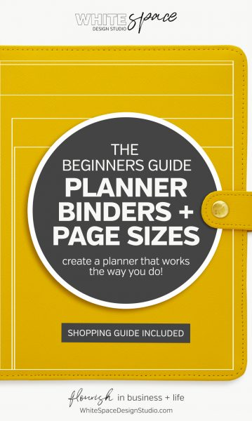 The Beginners Guide to Planner Binders and Page Sizes >>> and create a planner that works the way you do … It's the secret to increase your productivity + have peace of mind! | whitespacedesignstudio.com #flourishwithwhitespace #plannerprintables #fuselifeplanner #planning #productivity #plannerkit